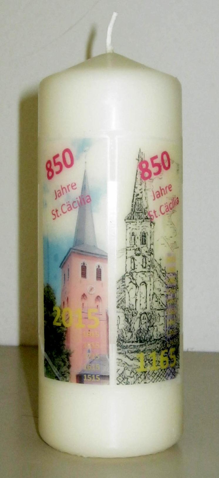 Andenken-Kerze zum 850-jährigen Kirchenjubiläum